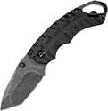 Kershaw Shuffle II Knife Black FRN Handle Blackwash Tanto Plain Edge 8750TBLKBW
