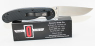 Ontario RAT 1  Folding Pocket Knife Plain Edge Satin Finish Black Handle 8848 Back