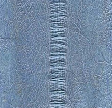 Genuine Eel Skin Panel - Baby Blue