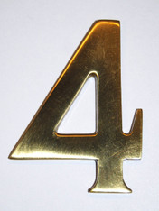 "3"" Williamsburg Brass Number #4"