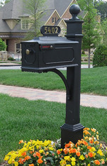 Williamsburg Estate Mailbox System (Estate Post - Black)