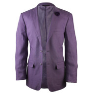 Affazy Linen Purple Fashion Blazer @ SuitYourselfMenswear.com