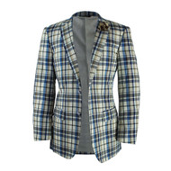 Suit Yourself Menswear Afazzy White Blue Brown Rust Cotton Blazer