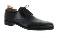 "Mezlan ""Soka"" Black Deerskin Cap Toe Shoes (15089-SOKA-BLACK)"