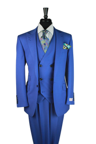 Tiglio Royal Indigo Blue 3 Piece Suit (TS4002/2)