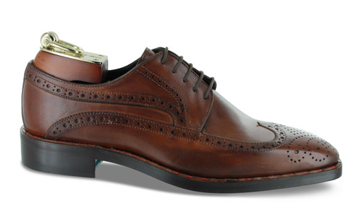 Emilio Franco Cognac Oxford Wingtip Shoes (B2657-CRUST)