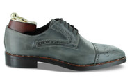 Emilio Franco Grey Oxford Wingtip Shoes ( B2658-CENER)