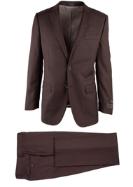 TIGLIO LIGHT BROWN BIRDSEYE NOVELLO MODERN FIT LUXE SUIT