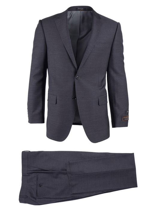 TIGLIO CHARCOAL GRAY NOVELLO MODERN FIT LUXE SUIT