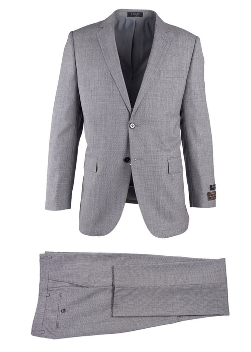 TIGLIO LIGHT GRAY HERRINGBONE NOVELLO MODERN FIT LUXE SUIT