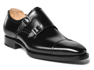 UGO VASARE BLACK NEO MONKSTRAP DRESS SHOES