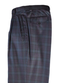 Tiglio Purple Plaid Checkered Wide Leg Pants/Slacks (RF2696/3)