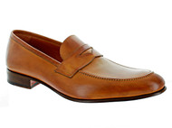 Emilio Franco Cognac Golden Penny Loafer Shoes