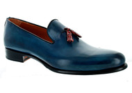 Emilio Franco Blue Red Tassle Loafer Shoes (BLUE-R205)