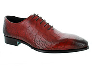 Emilio Franco Red Croc Pantina Shoes (RED-B16176)