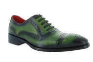 Encore Green Black Burnish Patina Toe Cap-Toe (FI8713-GREEN)