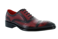 Encore Red Black Burnish Patina Toe Cap-Toe (FI8713-RED)