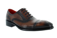 Encore Brown Burnish Patina Toe Cap-Toe (FI8713-BROWN)