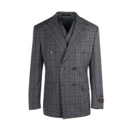Tiglio Gray Purple/Plum Windowpane Double Breasted Suit (RG8878F/488/2)