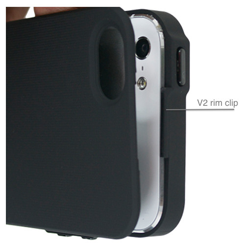 SlimClip Case V2 rim clip more securely holds your phone while clipping SlimClip Case