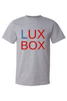 LuxBox Case 'BOX'• Heathered Grey  Tee Super Soft 90% Cotton | 10% Poly Blend