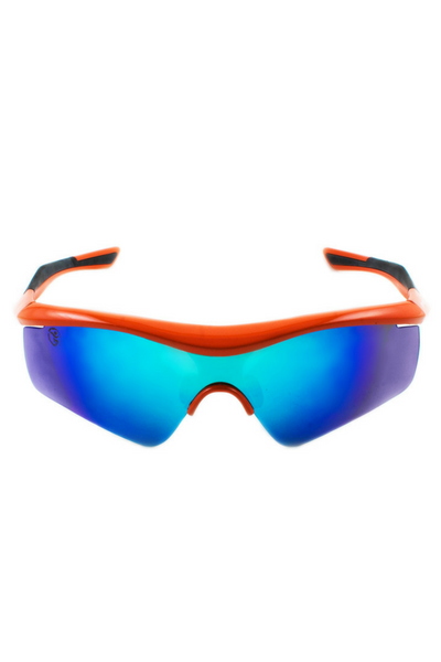 Model features AthletesInsight's PolyCarbonate lens technology, and are also shatter-resistant. Additionally they feature an anti-reflective coating. These shades are incredibly lightweight (20g), are oil and water repellent, and provide complete UVA and UVB protection.