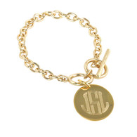 Gold Plated Circle Monogram