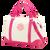 Hot Pink Master Circle Monogram