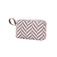 Herringbone Taupe Accessory Bag