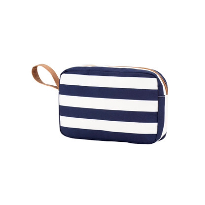 Navy STripe Accessory Bag Monogram It! Check out our monograms on diagram.