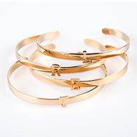 Lisette Initial Cuff Bracelet