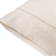 Egyptian Cotton Monogrammed Pillow Case with Open Insert Detail -300 Thread Count- Standard size