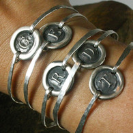 Silver Initial Bangle