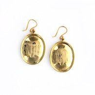 Hammered Oval Gold-Tone Earrings