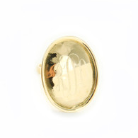 Hammered Oval Gold-Tone Ring