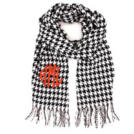 Cashmere Feel Houndstooth Black & White Scarf