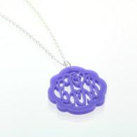 Acrylic Flourish Monogram Necklace