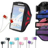 Sports Armband Case for Galaxy Note 2 / 3  with Headhpone Earbuds
