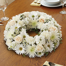 All White Centerpiece Wreath