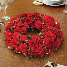 All Red Centerpiece Wreath