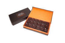 Covered with Putumayo 65% Dark Chocolate and sprinkled with a touch of Sea Salt  Awarded in New York Times 10 Best Chocolate-Covered Salted Caramels