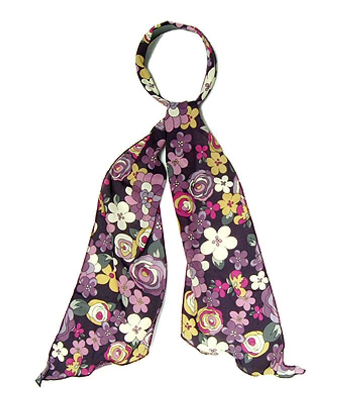 Fashion Scarf Look Headband Chiffon Flower Black Purple