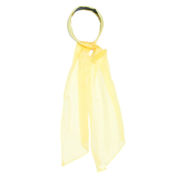 Fashion Scarf Look Headband Chiffon Organza Yellow