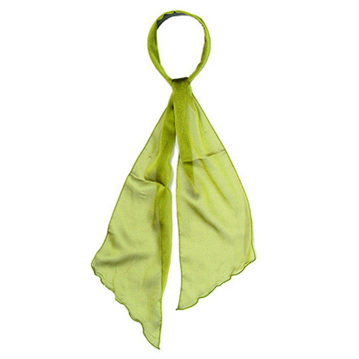 Fashion Scarf Look Headband Chiffon Solid Olive Green