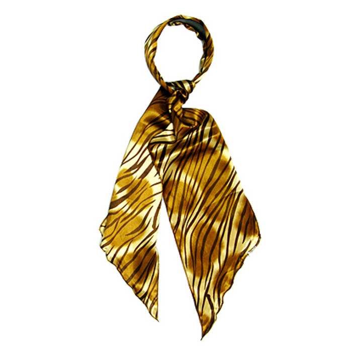Fashion Scarf Look Headband Satin Animal Print Zebra