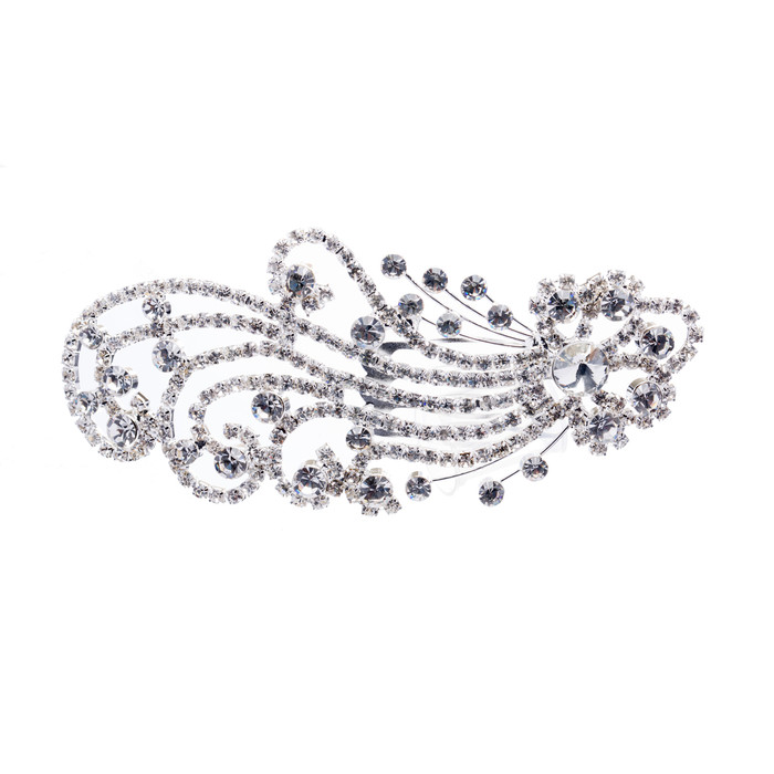 Bridal Wedding Jewelry Crystal Rhinestone Beautiful Dazzle Wave Hair Comb Pin
