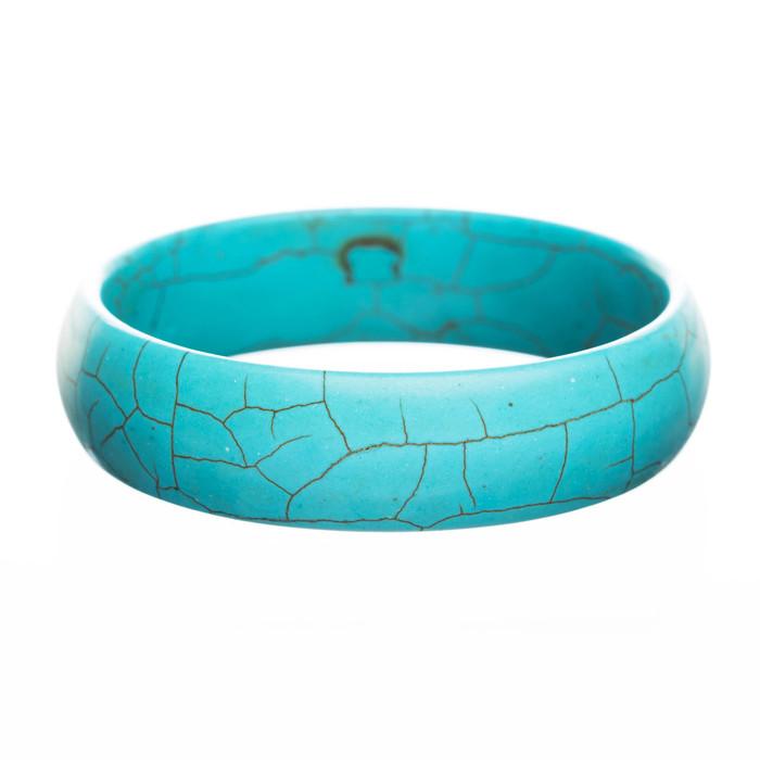 Fashion Beautiful Turquoise Stones Design Bangle Bracelet Blue