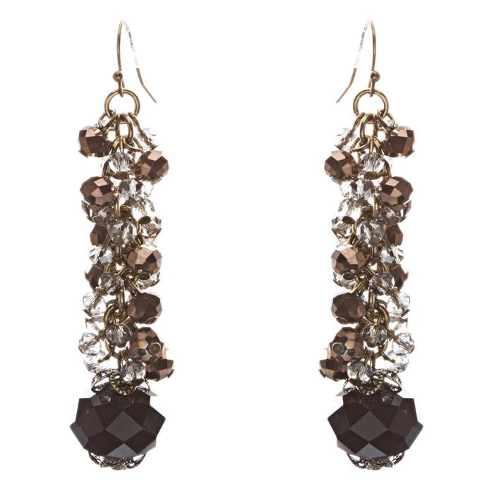 Contemporary Fashion Sophisticated Linear Long Drop Dangle Earrings E838 Black