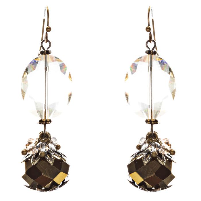 Fashion Chic Crystal Rhinestone Stylish Oval Arrangement Earrings E847 Multi