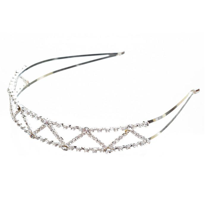 Bridal Wedding Jewelry Crystal Rhinestone Delicate Zigzag Pattern Headband H159